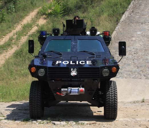 "(for police use)""野狼""(armored vehicle)正面图"