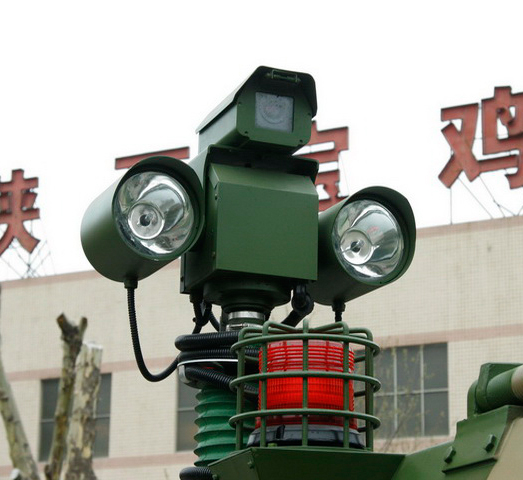 vehicle-mounted intensive light rotatble camera system